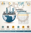 industry infographics template set of industrial vector image vector image