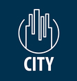 logo outline night city vector image