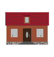 Little house brick vector image