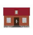 Little house brick vector image