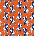 dog bull background vector image vector image