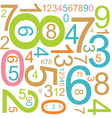 colorful numbers vector image