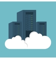 data center computer clouding vector image