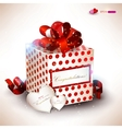 elegant valentines gift vector image