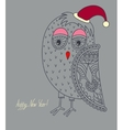 original ornamental christmas owl concept winter vector image