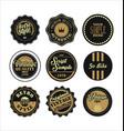 vintage labels black and brown set 2 vector image
