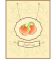 vintage postcard with apples and leaves vector image