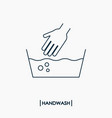 wash hand outline icon delicate washing vector image