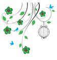cage swirls green vector image