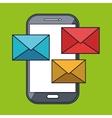 smartphone message envelope letter vector image