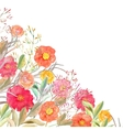Floral border Isolated roses and wild vector image