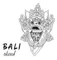 Bali sketch Barong - balinese god Traditional vector image