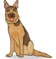 german shepherd dog cartoon vector image vector image