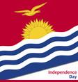 kiribati independence day vector image