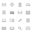 big data documents icon sets vector image