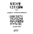 Vintage fanciful font vector image