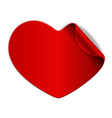 red heart sticker vector image vector image