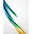 Modern curve stripes template vector image vector image