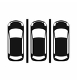 Car parking icon simple style vector image