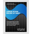 Abstract modern flyer brochure design templ vector image
