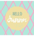 Bright summer card with hand drawn vector image