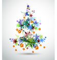 Christmas background with abstract fir vector image
