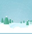 christmas winter snowfallforest landscape vector image