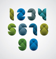 Colorful spherical geometric sectored numbers with vector image
