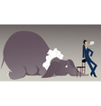 Elephant in the room vector image