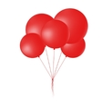Group of flying round red balloons vector image