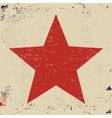 Grunge red star vector image