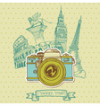 Lovely Card - Vintage Camera vector image