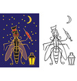 mosquito with flashlight night vector image