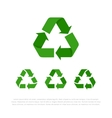 Set of four flat isolated recycle symbols vector image