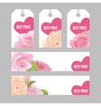 Set of price tags and banners for Valentine s day vector image