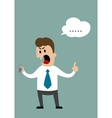 Swear cartoon businessman vector image