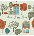 Home sweet home Card Seamless background vector image vector image