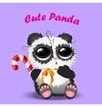 cute christmas pandas vector image