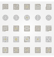 Labyrinth icons set vector image