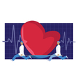 Heart donor vector image