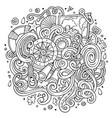 cartoon cute doodles hand drawn nautical vector image