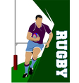 Rugby 02 vector image