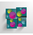 Simple and Colorful Circles Background vector image vector image