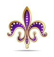 Golden and purple fleur-de-lis vector image