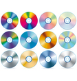 CD collection vector image vector image