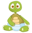 Funny Turtle Baby vector image vector image