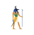 anubis the god of death egyptian ancient culture vector image