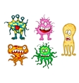 Cartoon monsters set vector image