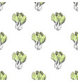 chinese cabbage in endless texture vector image
