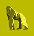 in flat style gorilla vector image
